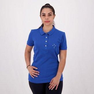 Polo Cruzeiro Feminina Azul e Branca
