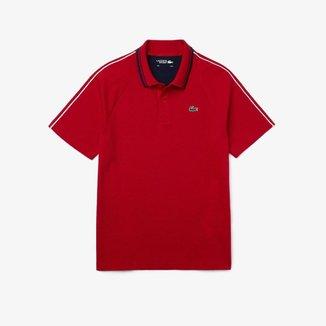 Polo masculina Lacoste SPORT Tennis em tricô ultraleve bicolor