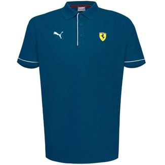 Polo Puma Masculina Ferrari Race Masculina - Azul