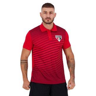 Polo SPR São Paulo Soberano Masculina - Vermelho