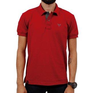 Polo Stouro Masculina -  Vermelho
