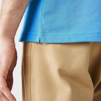Polo unissex Lacoste LIVE Standard Fit em piqué de algodão com stretch