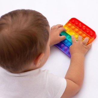 Pop It Fidget Toys Quadrado Alfabeto Little Cute
