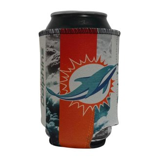 Porta Latinhas Neoprene Miami Dolphins NFL Laranja
