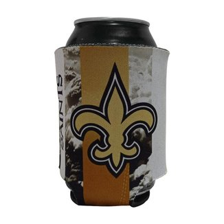 Porta Latinhas Neoprene New Orleans Saints NFL Amarelo