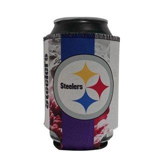 Porta Latinhas Neoprene Pittsburgh Steelers NFL Roxo
