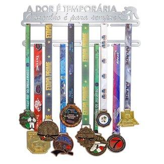 Porta Medalhas Jiu Jitsu - A dor é temporária, O orgulho é para sempre