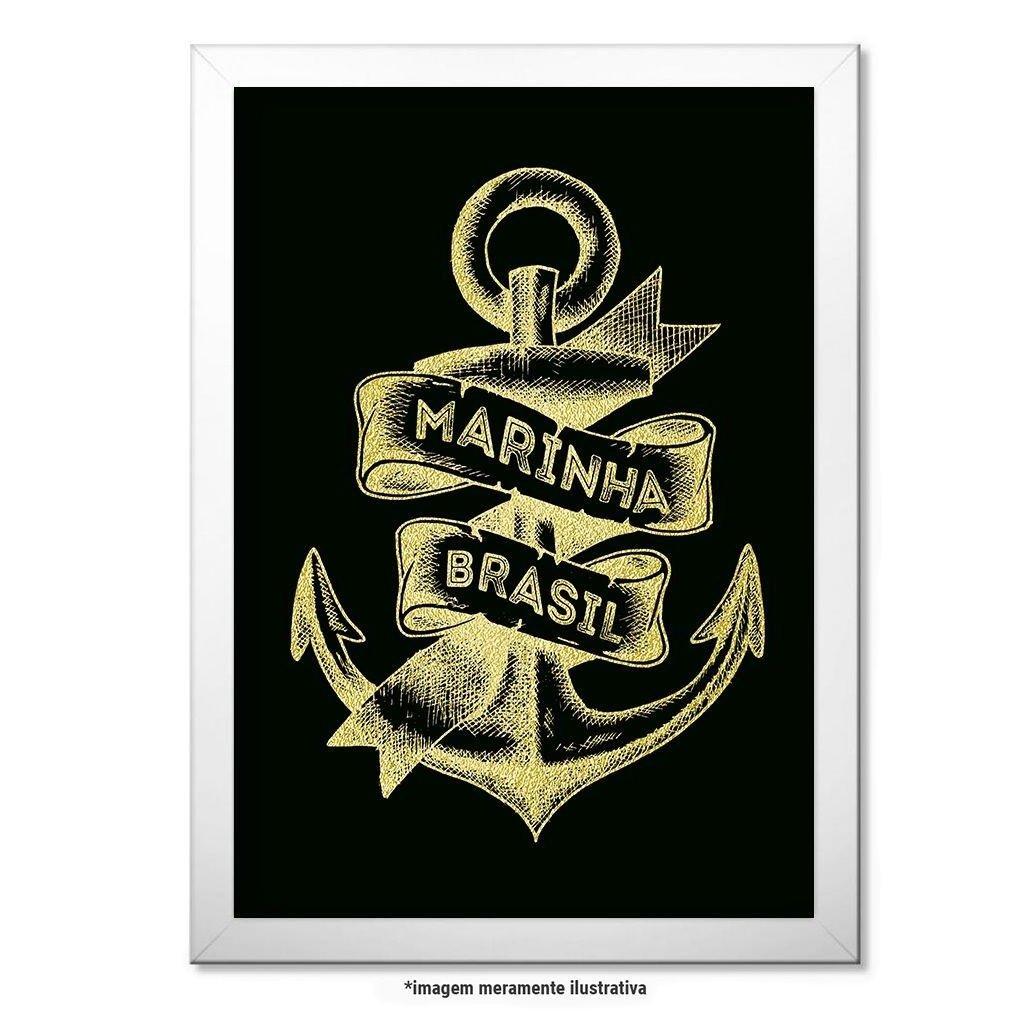 c71badba74 Poster Militar com Moldura Marinha do Brasil | Netshoes