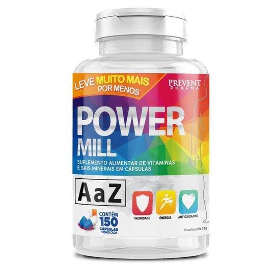 Power Mill A-Z 150 Cáps Multivitaminico - Prevent Pharma -
