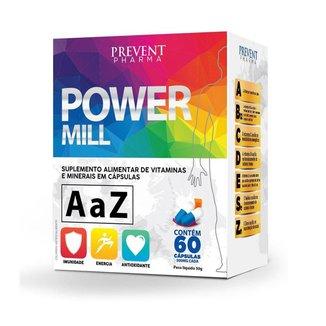 Power Mill A-Z 60Cáps Multivitaminico - Prevent Pharma