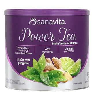 Power Tea Mate Verde & Matcha Sanavita Lata 200g