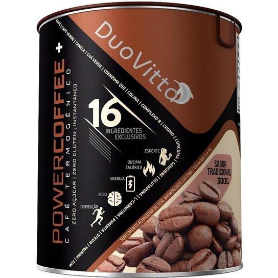 Powercoffee+ 16 Ingredientes 162mg Cafeína Tradicional 300g - N/A