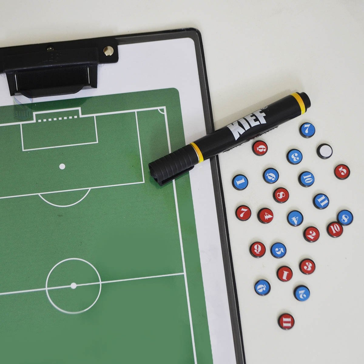5322732faa Prancheta Tática Magnética Futebol De Campo Kief Imã  Caneta - Verde ...