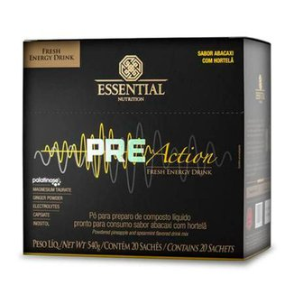 Pre-Action Energy Drink 27g (540g) 20 Unidades - Essential
