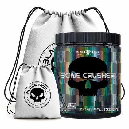 Pre Treino Bone Crusher 300G + Mochila  - Black Skull (Blueberry)