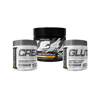 Pré-Treino C4 Ultimate (150G) + Creatina (300G) + Glutamina (300G)