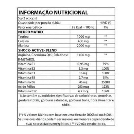 Pré Treino NUCLEAR RUSH 100g - Bodyaction - Guaraná   Netshoes