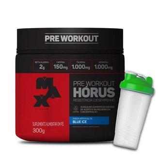 Pré Treino Workout HÓRUS 300gr - Max Titanium + Coqueteleira