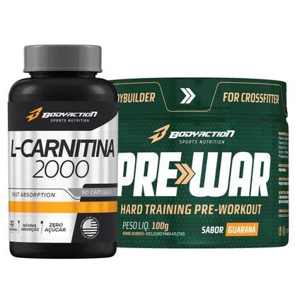 Pre-War Pré Treino 2000mg B Alanina + L Carnitina - Body Action