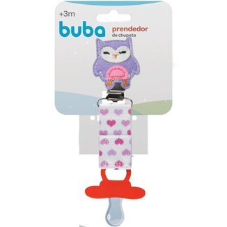 Prendedor De Chupeta Corujinha Buba Baby