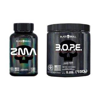 PréTreino Bope 150G + ZMA Polivitaminico 120 CAPS Black Skull