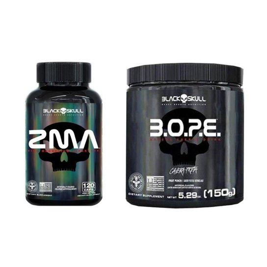 PréTreino Bope 150G + ZMA Polivitaminico 120 CAPS Black Skull -