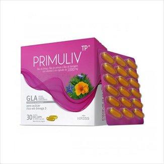 Primuliv TP 1000mg com 30 Cápsulas Gel - Linhaça, Prímula, Borragem e Vitamina E