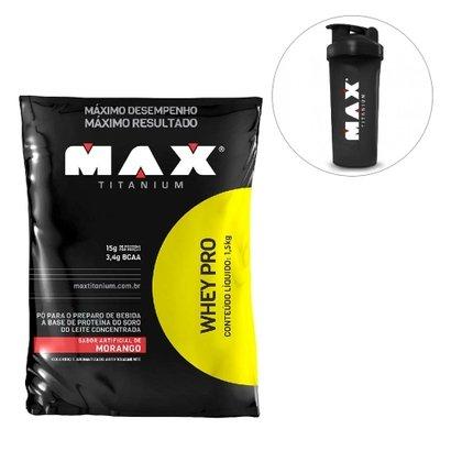 Pro Whey 1,5kg Max + Coqueteleira 600ml
