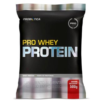 Pro Whey Protein 500g Sabor Morango com Banana Probiótica