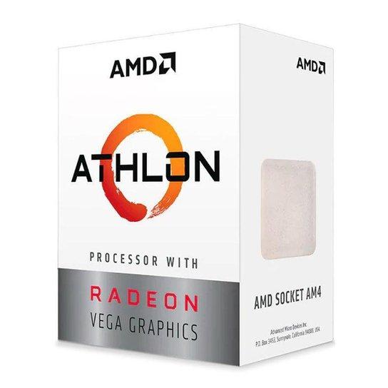Processador AMD Athlon 3000G Dual-Core 3.5GHz 5MB Cache AM4, YD3000C6FHBOX - Preto