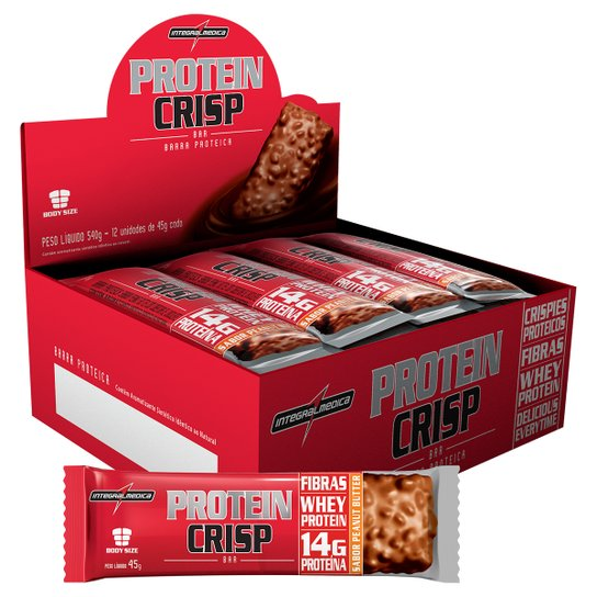 Protein Crisp Bar 12 barras - IntegralMédica -