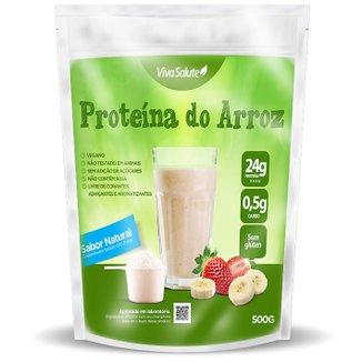 Proteína Concentrada do Arroz Viva Salute Rice Protein Sabor Natural - 500 g