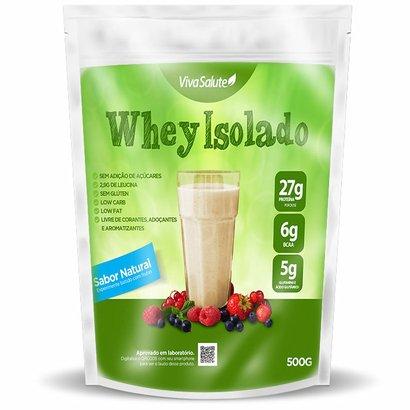 Proteína Isolada do Soro do Leite Viva Salute Whey Protein Sabor Natural - 900 g - Unissex