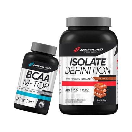 Proteína Isolada Isolate Definition 900g + Bcaa Mtor Booster - Bodyaction