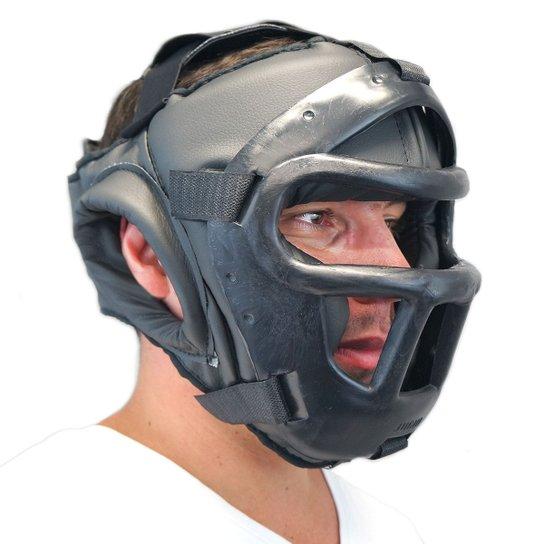 Protetor de cabeça c/ grade Jugui - Preto