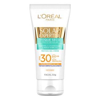 Protetor Facial L'Oreal Paris Solar Expertise Toque Seco FPS 30 50g