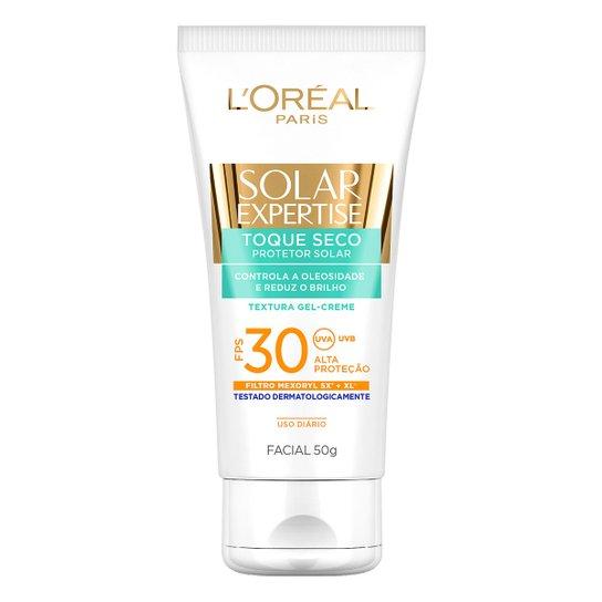 Protetor Facial L'Oreal Paris Solar Expertise Toque Seco FPS 30 50g - Incolor