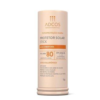 Protetor Solar Adcos Stick FPS 80 Beige 12g