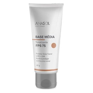 Protetor Solar Base Média Anasol Clinicals FPS75 Média