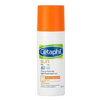 Protetor Solar Facial Antioxidante Cetaphil Sun Light Fluid FPS60 com Cor 50ml
