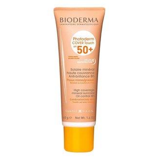 Protetor Solar Facial Bioderma Photoderm Cover Touch FPS 50+ Dourado