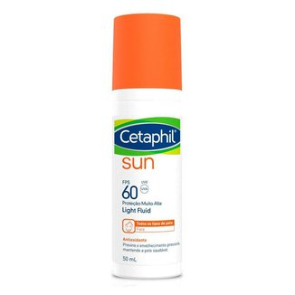 Protetor Solar Facial Cetaphil – Sun Light FPS60 Sem Cor 50ml