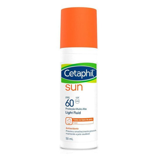 Protetor Solar Facial Cetaphil – Sun Light FPS60 Sem Cor 50ml - Incolor