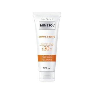 Protetor Solar Facial e Corporal Minesol FPS 30