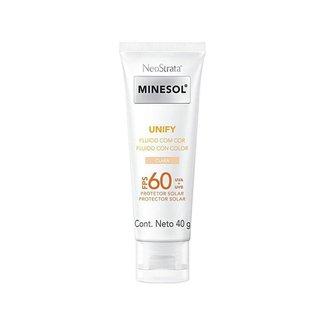 Protetor Solar Facial Minesol FPS 60 Claro Unify