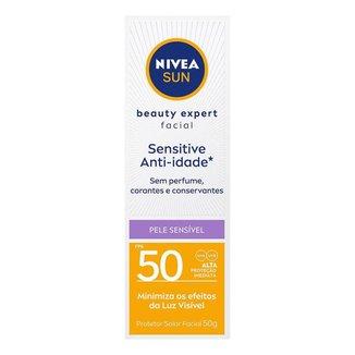 Protetor Solar Facial Nivea Beauty Expert Sensitive FPS 50 50g