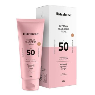 Protetor Solar Hidrabene CC Cream Facial Fps 50 40g