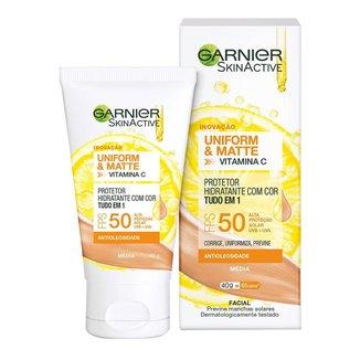 Protetor Solar Hidratante Garnier Uniform & Matte Vitamina C Média