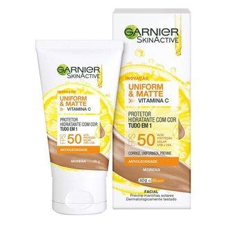 Protetor Solar Hidratante Garnier Uniform & Matte Vitamina C Morena