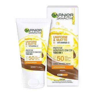 Protetor Solar Hidratante Garnier Uniform & Matte Vitamina C Negra